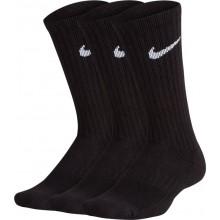 3 Paires De Chaussettes Nike Junior Performance Crew Hautes Noires