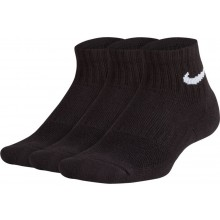 3 Paires De Chaussettes Nike Junior Performance Quarter Noires
