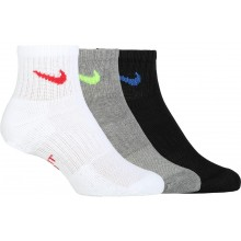3 Paires De Chaussettes Nike Junior Performance Quarter Anthracites