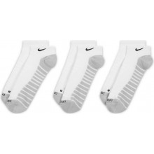 3 Paires de Chaussettes Nike Max Cushion Invisible Blanches