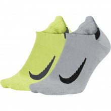 2 Paires de Chaussettes Nike No Show Grises