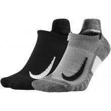 2 Paires de Chaussettes Nike No Show Noires / Grises