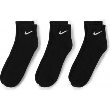 3 Paires de Chaussettes Nike Cushion Everyday Quarter Noires
