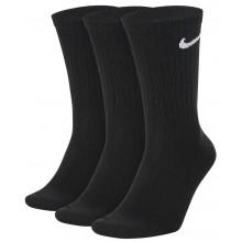 3 Paires de Chaussettes Nike Everyday Mi-Hautes Noires