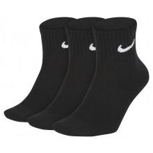 3 Paires de Chaussettes Nike Lightweight Ankle Noires