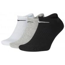 3 Paires de Chaussettes Nike Cushion Everyday Extra Basses Grises