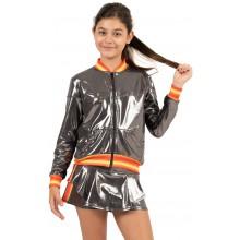 Veste Lucky In Love Junior Metallic Groovy Stripe Charbon
