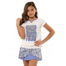 Tee-Shirt Lucky In Love Junior Fille Grrrl Powr Blanc