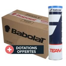 Carton De 18 tubes De 4 Balles Babolat Team