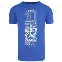 Tee-Shirts Tennis Achat Typo Bleu