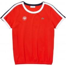 Tee-Shirt Lacoste Femme Orange