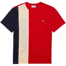 Tee-Shirt Lacoste Good Colorblock Rouge