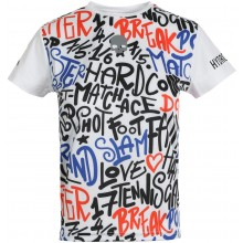 Tee-Shirt Hydrogen Junior Graffiti Tech Blanc