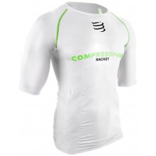 Tee-Shirt Compressport Racket Compression Blanc