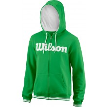 Sweat Wilson À Capuche Team Script Vert