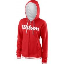 Sweat Wilson Femme A Capuche Team Script Rouge