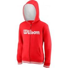 Sweat Wilson Junior À Capuche Team Script Rouge