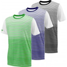 Tee-shirt Wilson Junior Team Stripped Blanc