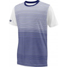 Tee-Shirt Wilson Junior Team Striped Marine