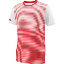 Tee-Shirt Wilson Junior Team Striped Rouge