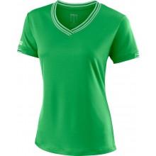Tee-shirt Wilson Femme Team Col V Vert