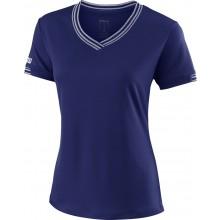 Tee-Shirt Wilson Femme Team Col V Marine