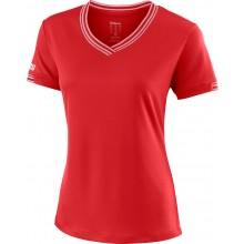 Tee-Shirt Wilson Femme Team Col V Rouge