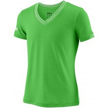 Tee-Shirt Wilson Junior Fille Col V Team Striped Vert