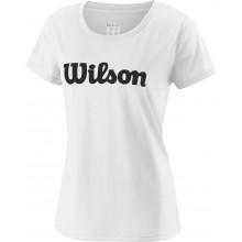 Tee-Shirt Wilson Femme Uwii Script Blanc