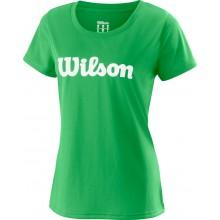 Tee-Shirt Wilson Femme Uwii Script Vert