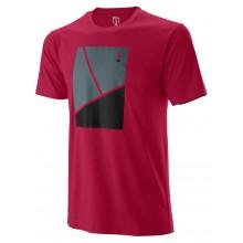 Tee-Shirt Wilson Junior Trameline Tech Bordeaux