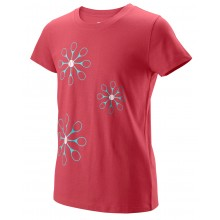Tee-shirt Wilson Junior Fille Floret Tech Bordeaux