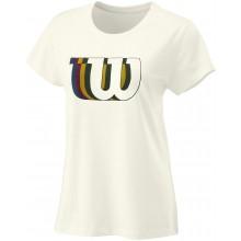 Tee-Shirt Wilson Femme Blur Tech Blanc