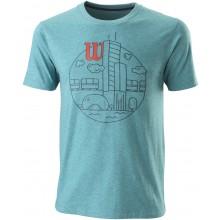 Tee-Shirt Wilson Chi Skyline Coton Slimfit Bleu