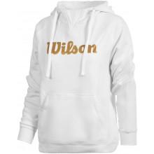 Sweat à Capuche Wilson Femme Training Script Blanc