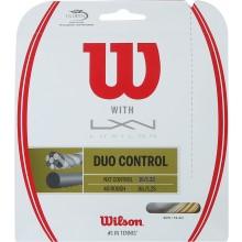 Cordage Wilson Duo Control: Luxilon 4G & Wilson Nxt Control 1.25 (12.20 Mètres)