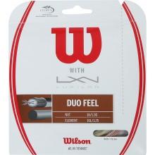 Cordage Wilson Duo Feel: Luxilon Element & Wilson Nxt Control 1.25 (12.20 Mètres)