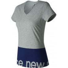 Tee-shirt New Balance WT71551 Femme Gris/Marine