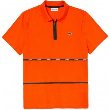 Polo Lacoste Lifestyle Zippé Orange
