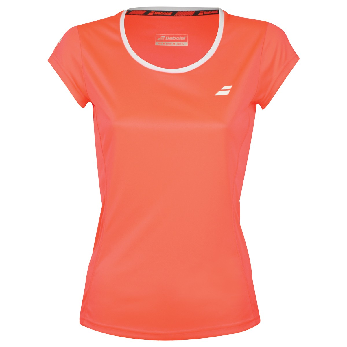 Tee-Shirt Babolat Femme Core Flag Club Orange