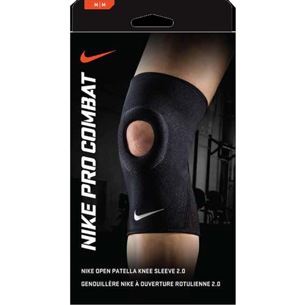 Genouillère Nike à Ouverture Rotulienne 2.0 Noire