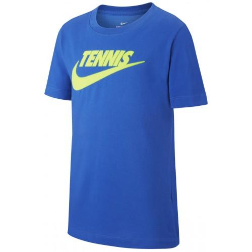 Tee-Shirt  Court Junior Tennis GFX Bleu